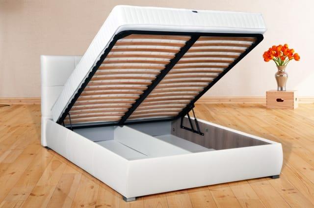 Купить двуспальную кровать с подъемным механизмом недорого